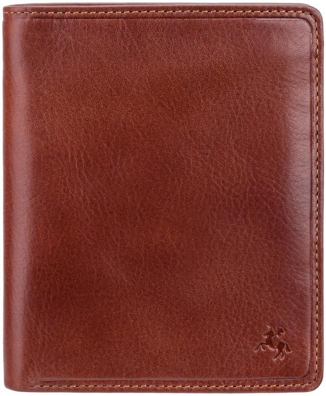 Visconti Men Tan Genuine Leather Wallet(16 Card Slots)