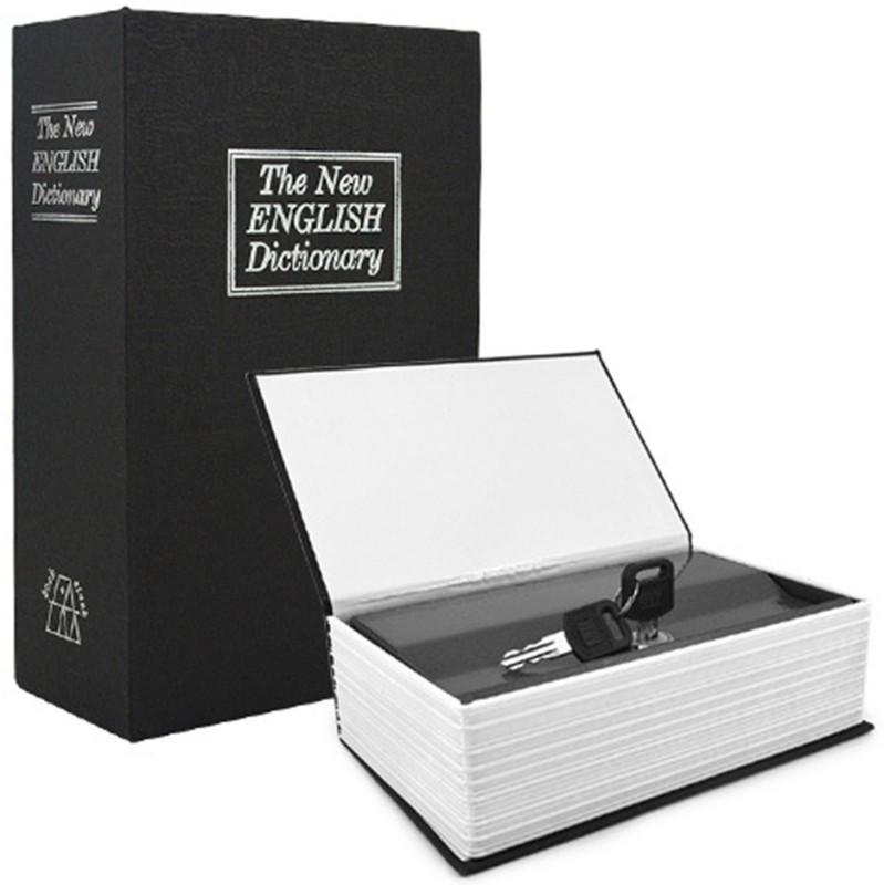 Sukot Book Safe Cash Box Cash Jewelry Organizer Safe Locker(Key Lock)