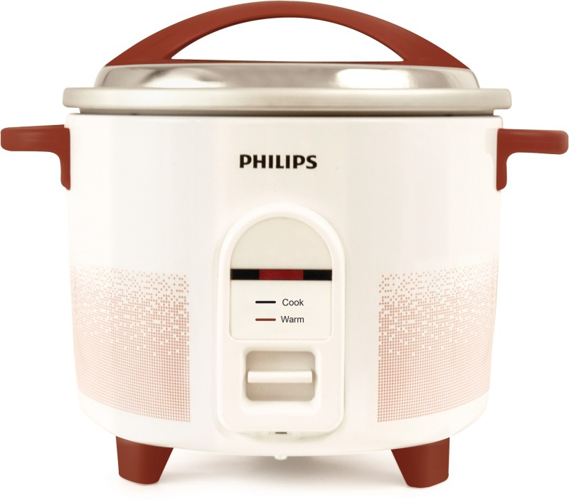 Philips HL1662/00 Electric Rice Cooker(1 L, Red, White)