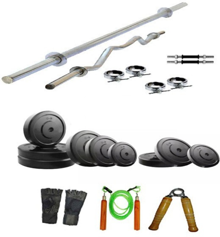 Arnav 16 kg Plates with 6 Accesiories Home Gym Combo(0 - 20 kg)