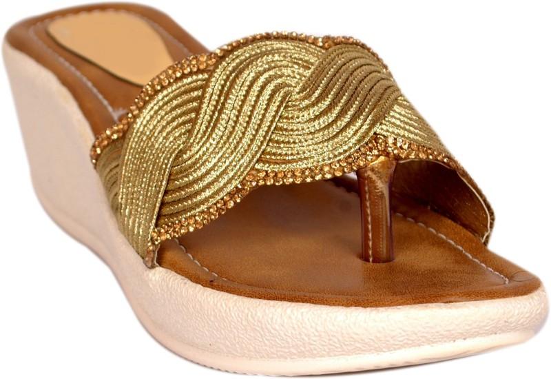 Bora Bora Women Gold Wedges