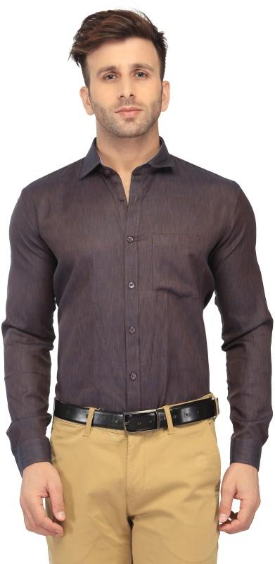 FabTag - Being Fab Men Solid Formal Brown Shirt