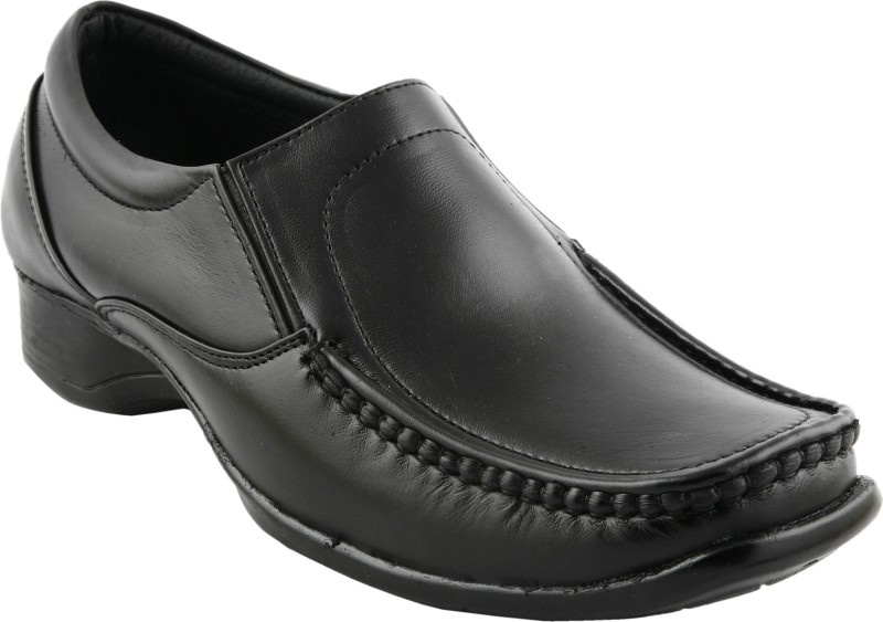 Eego Italy Genuine Leather Mens New Look Slip On For Men(Black)