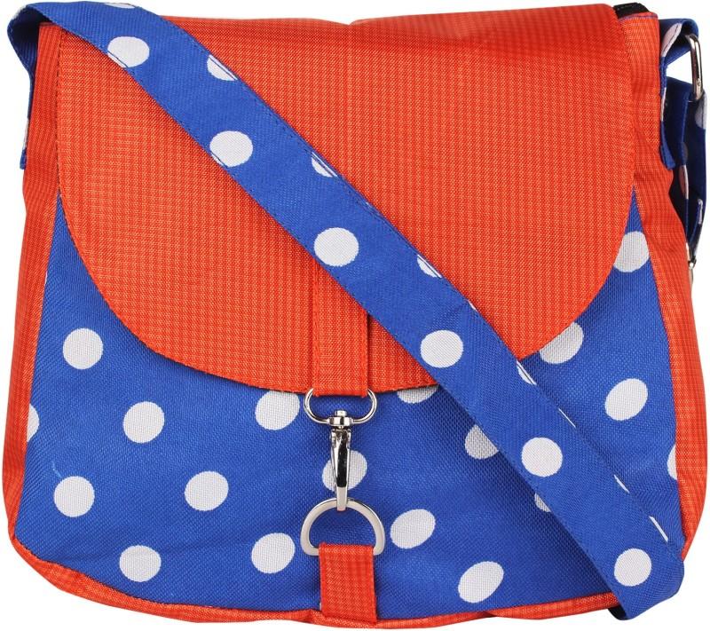 Vivinkaa Blue, Orange Sling Bag
