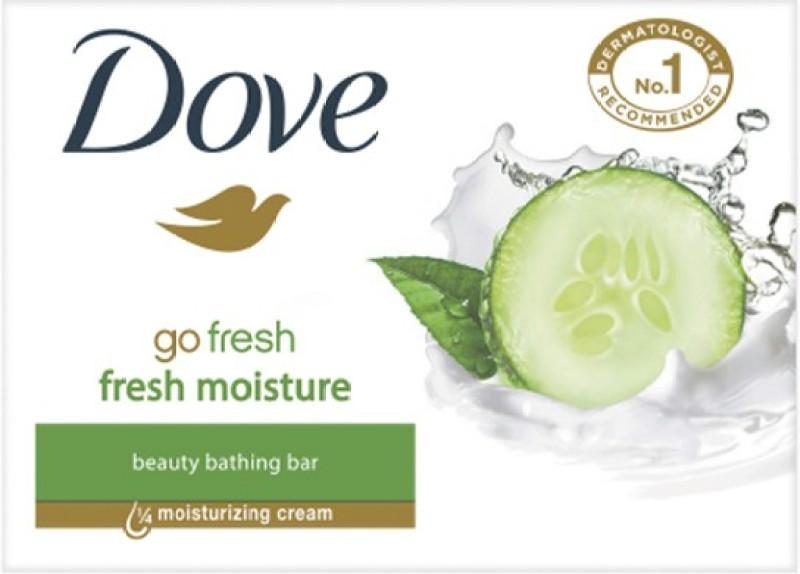 Dove Go Fresh Moisture Beauty Bathing Bar(225 g, Pack of 3)