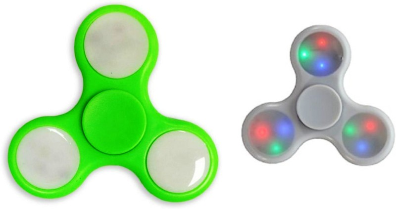 Metro LED FIDGET SPINNER PREMIUM QUALITY COMBO(Green, White)