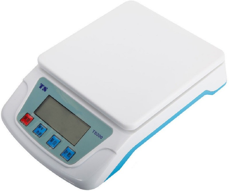 Connectwide CONNECTWIDE® Digital Electronic Compact Scale ( TS-200) 10 KG-1g Weighing Scale(White)