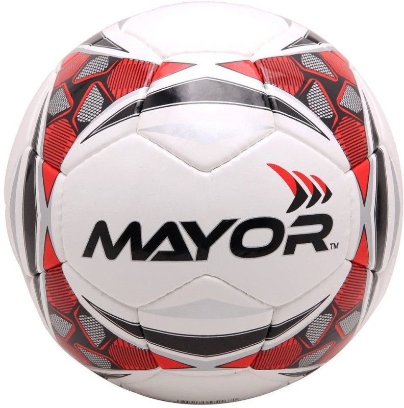 Mayor World Sigma Football - Size: 5(Pack of 1, Red, Black)