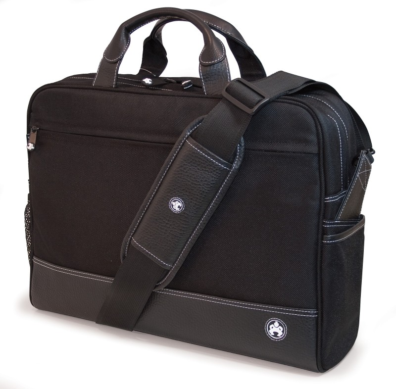 Mobile Edge Sumo - Mens Professional 15.6 Briefcase with White Stitching Medium Briefcase - For Men(Black)