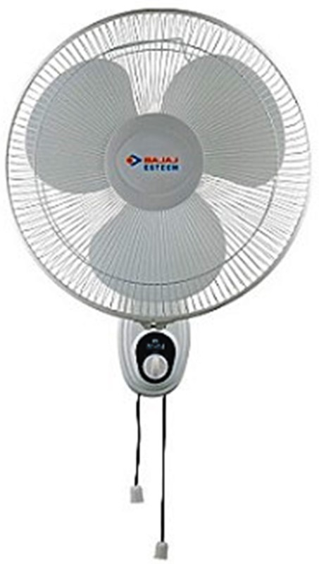 Bajaj ESTEEM 400 MM W/F DOUBLE STRING 3 Blade Wall Fan(Peppy Red)