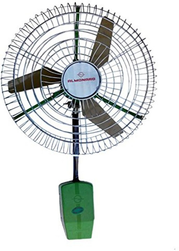 Almonard 24 Inch Air Circulator Heavy Duty Industrial Fan 3 Blade Wall Fan(green)