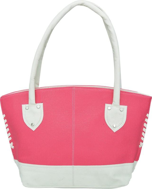 FD Fashion Hand-held Bag(Pink, White)