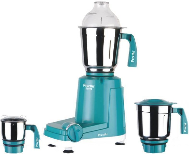 Preethi Trio- MG 158 500 W Mixer Grinder(Green, 3 Jars)