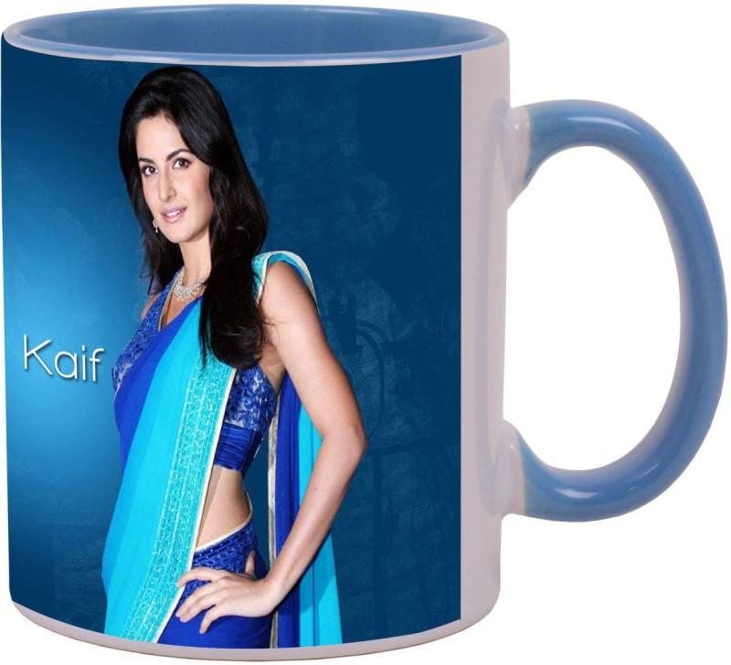 Arkist Free Download Katrina Kaif in Saree HD Ceramic Mug(340 ml)
