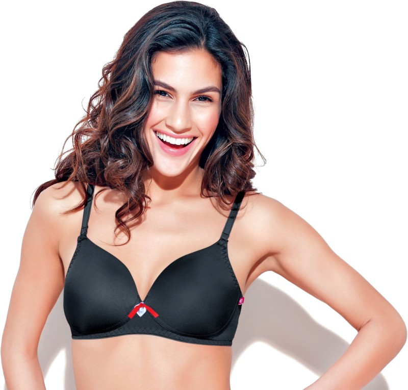 Enamor Womens T-Shirt Bra(Black)