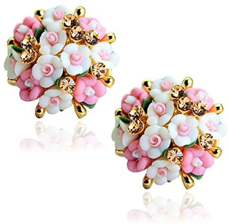 You Bella Stylish fancy Party Wear Jewellery Alloy Stud Earring