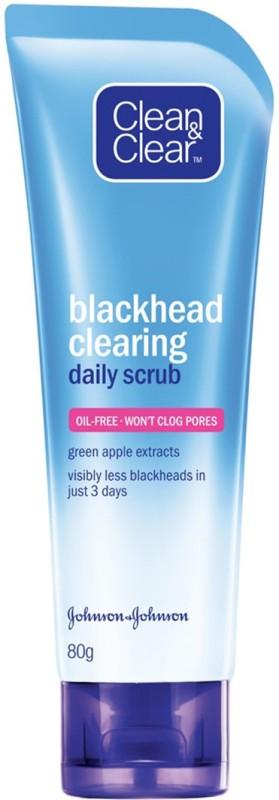 Clean & Clear Black Head Clearing Daily Scrub Face Wash(80 g)