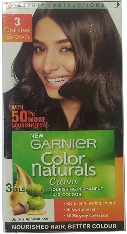 Garnier Color Naturals Hair Color(Darkest Brown 3)