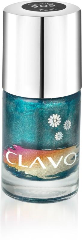 Clavo Long Wear Glossy Nail Polish Teal(11 ml)