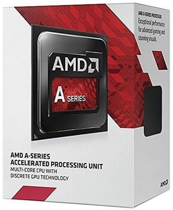 AMD 3.8 GHz FM2 A8 -7600 Processor(BLACK-RED)