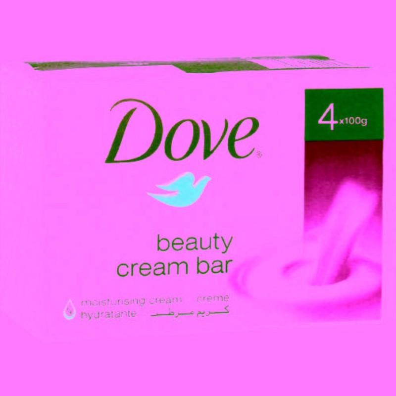 Dove Cream Beauty Bathing Bar(400 g, Pack of 4)