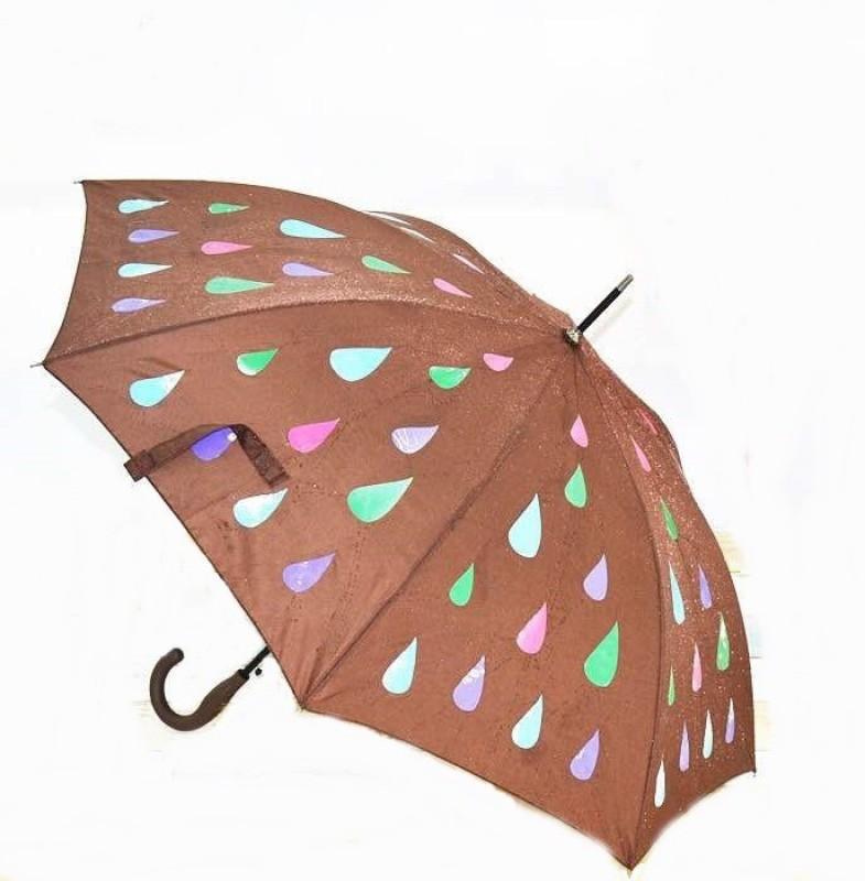 Skys&Ray Magic Rain Change Color Umbrella(Brown)