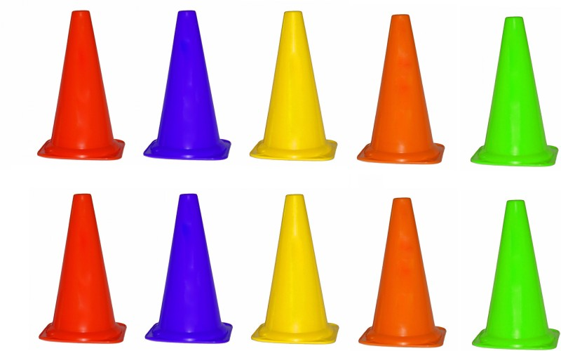 Navex Cone Marker Pack of 10(Multicolor)