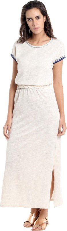 Vero Moda Women Maxi Beige Dress