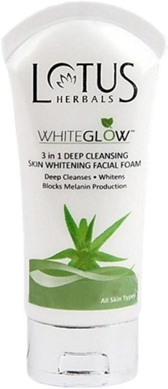 Lotus Herbals Whiteglow 3-in-1 Deep Cleansing Skin Whitening Facial Foam Face Wash(50 g)