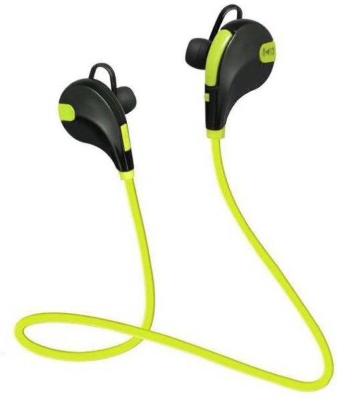 Defloc QY7 GR-06 Headset with Mic(Green, In the Ear)