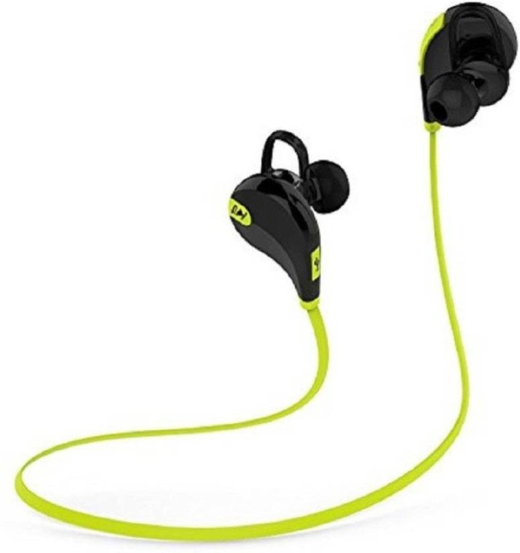 Defloc QY7 GR-02 Headset with Mic(Green, In the Ear)