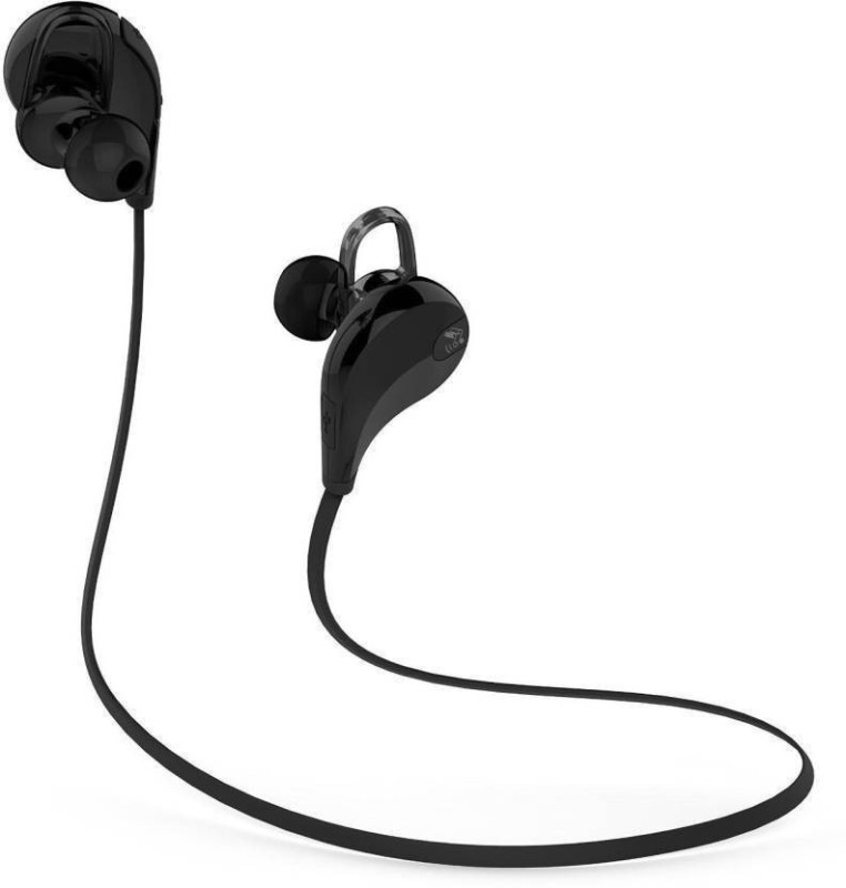 Defloc QY7 BLK-08 Headset with Mic(Black, In the Ear)