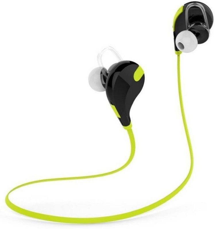Defloc QY7 GR-01 Headset with Mic(Green, In the Ear)