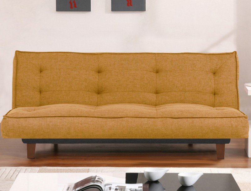 Furny Clarke Double Solid Wood Sofa Bed(Finish Color - Camel Mechanism Type - Fold Out)