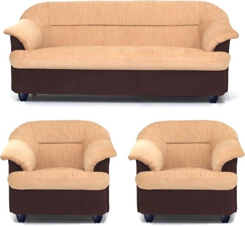 Bharat Lifestyle Sagittarius Fabric 3 + 1 + 1 Golden Brown Sofa Set