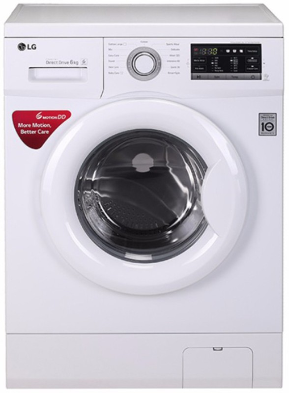 LG 6 kg Fully Automatic Front Load Washing Machine White(FH0G7NDNL02)
