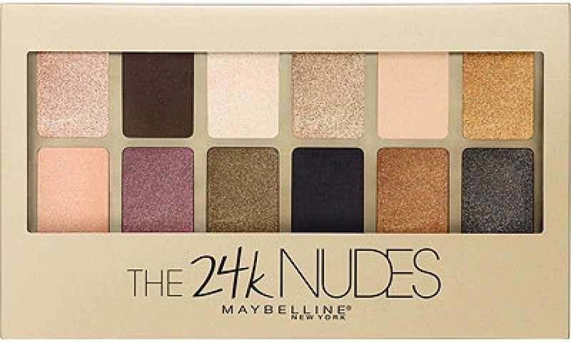 Maybelline New York The 24K Nudes Eyeshadow Palette 9 g(Multicolor)