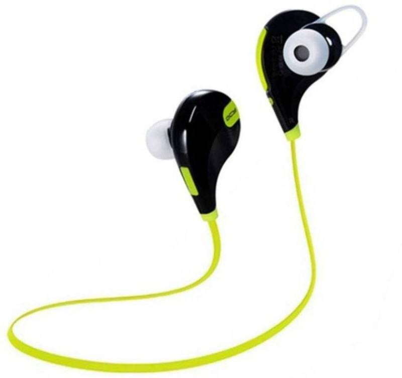 Defloc QY7 GR-11 Headset with Mic(Green, In the Ear)