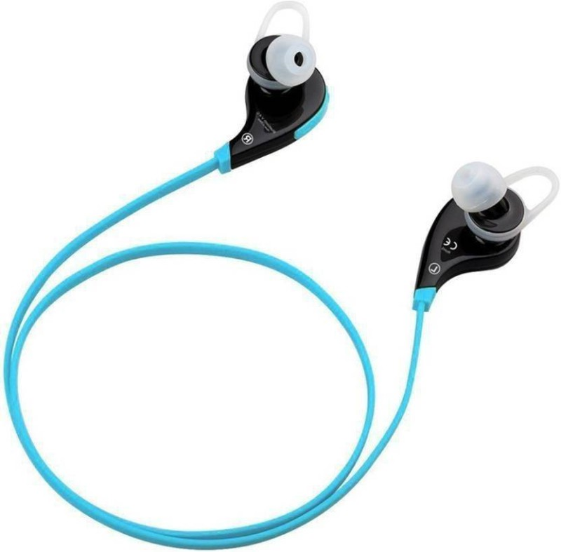 Defloc QY7 BLU-11 Headset with Mic(Blue, In the Ear)
