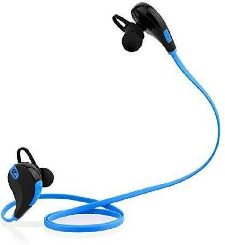 Defloc QY7 BLU-08 Headset with Mic(Blue, In the Ear)