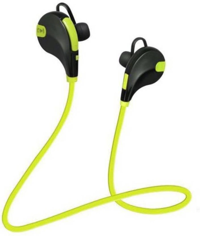 Defloc QY7 GR-04 Headset with Mic(Green, In the Ear)