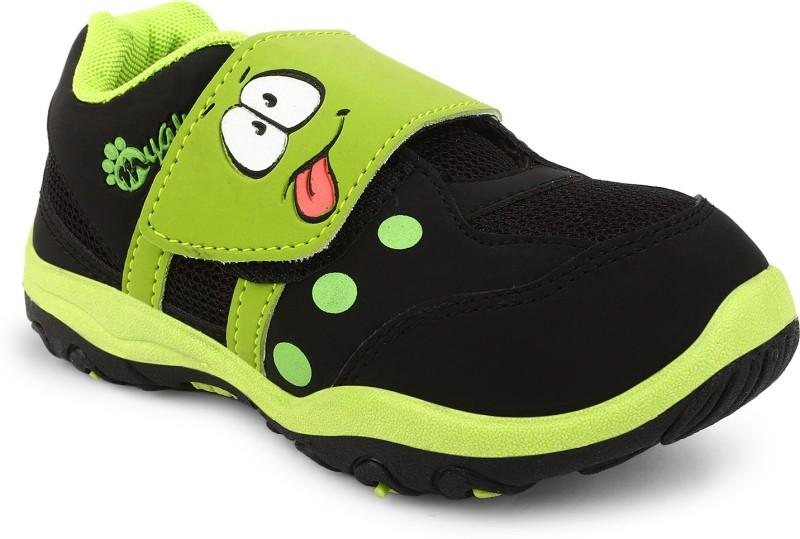 Myau Boys & Girls Velcro Running Shoes(Green)