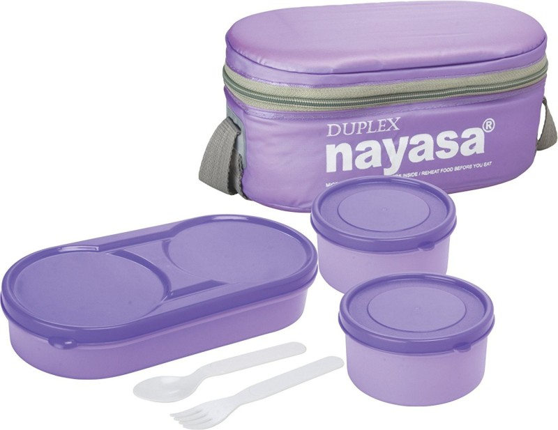 Nayasa DUPLEX 3 Containers Lunch Box(500 ml)