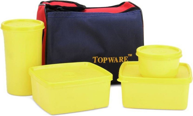 Topware TP03 Yellow 4 Containers Lunch Box (1000 ml) 4 Containers Lunch Box(1000 ml)