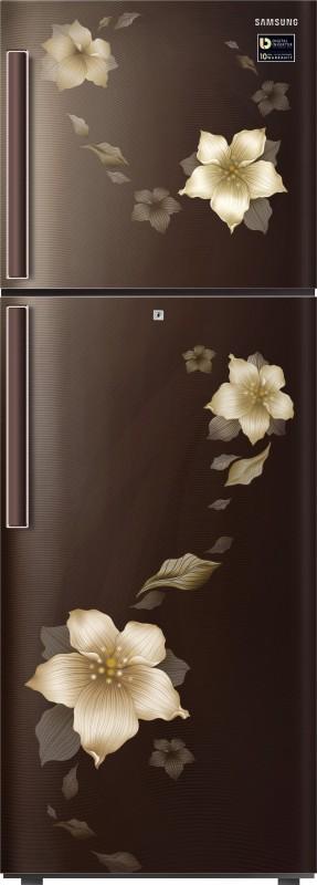 Samsung 253 L Frost Free Double Door Refrigerator(Star Flower Brown,...