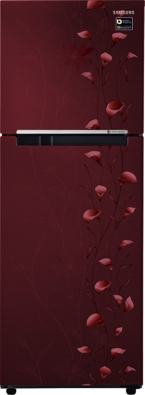Samsung 253 L Frost Free Double Door Refrigerator(Tender Lily Red,...