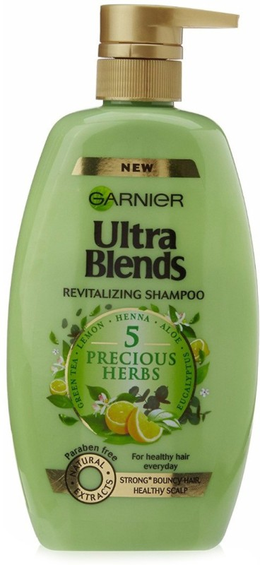 Garnier Ultra Blends 5 Precious Herbs Shampoo(640 ml)