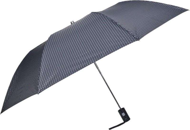 Fendo 2 Fold Auto Open self printed Gents Umbrella(Black)