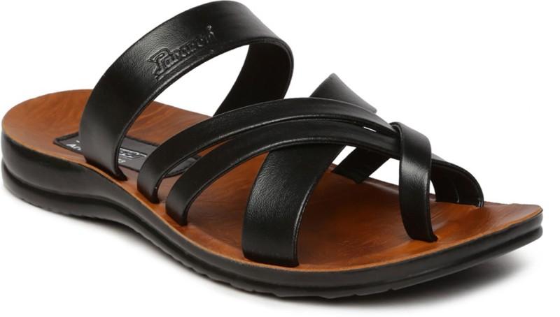 Paragon Men Black Sandals