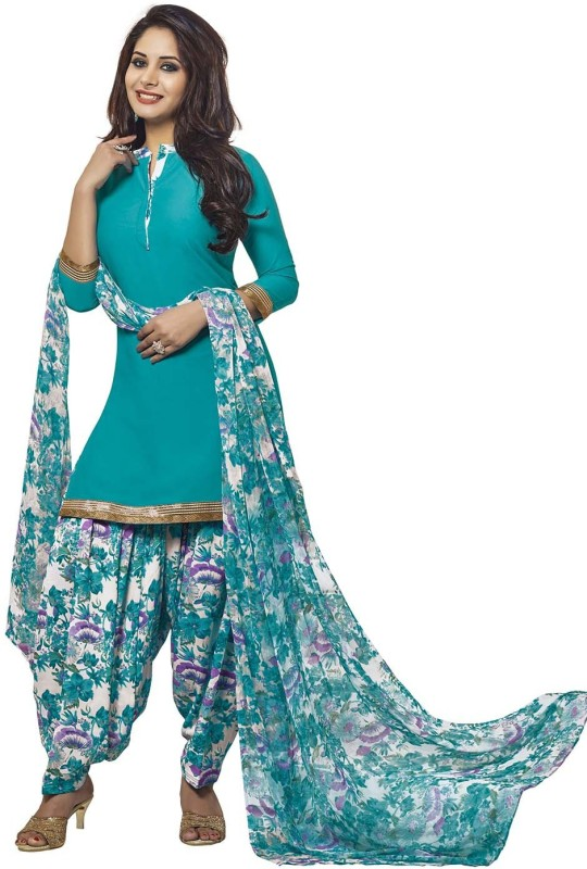 Jevi Prints Synthetic Solid, Printed Salwar Suit Dupatta Material(Un-stitched)